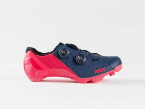 Buty MTB Bontrager XXX  Nautical Navy/Radioactive Pink  2020
